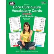 Super Duper® Webber Core Curriculum Vocabulary Cards Fun Sheets, Level Three