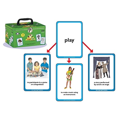 Super Duper® Triple Talk™ Multiple Meaning Photo Cards Game