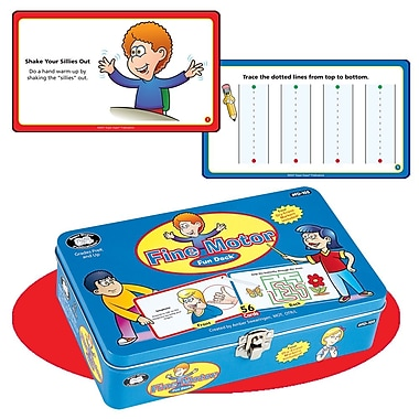 Super Duper® Fine Motor Fun Deck® Hand Exercises and Prewriting Skill Cards