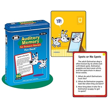 Super Duper® Auditory Memory For Science Stories Fun Deck Cards