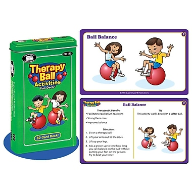 Super Duper® Therapy Ball Activities Fun Deck Cards