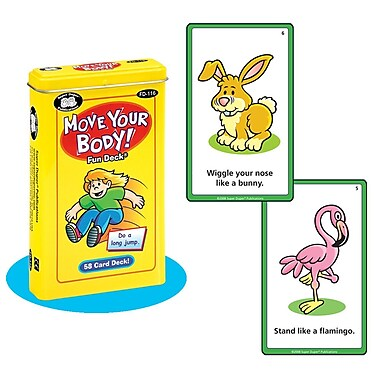 Super Duper® Move Your Body Fun Deck Cards