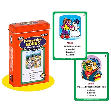 Super Duper® Possessive Nouns in Sentences Fun Deck Cards