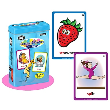 Super Duper® Complex S Clusters Fun Deck Cards