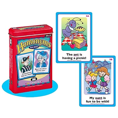 Super Duper® Homonyms Fun Deck® Cards