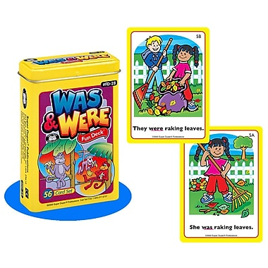 Super Duper® Was & Were Fun Deck® Cards
