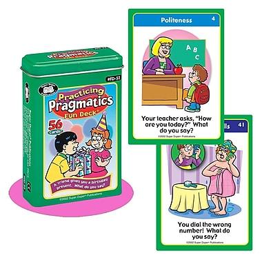 Super Duper® Practicing Pragmatics Fun Deck Cards