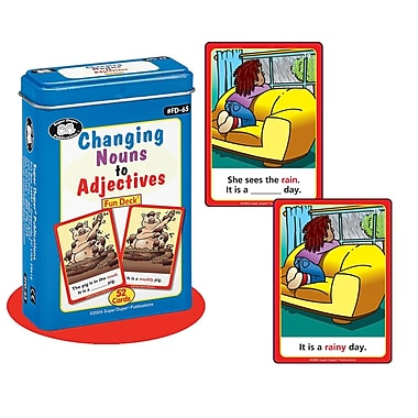 Super Duper® Changing Nouns to Adjectives Fun Deck Cards