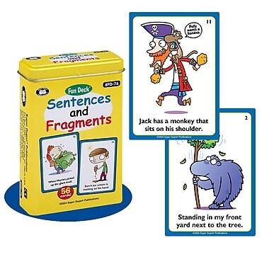 Super Duper® Sentences and Fragments Fun Deck Cards