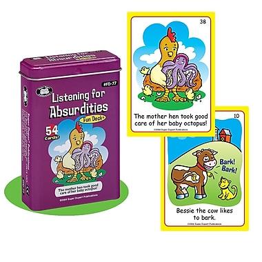 Super Duper® Listening For Absurdities Fun Deck Cards