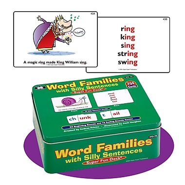 Super Duper® Word Families With Silly Sentences Super Fun Deck Cards