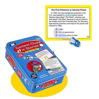 Super Duper® Context Clues in Stories Super Fun Deck® Cards With Secret Decoder