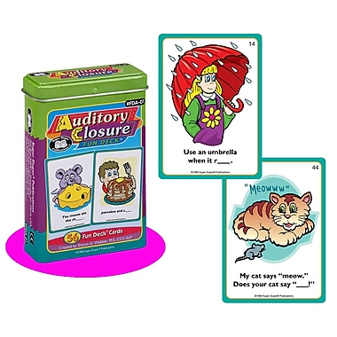 Super Duper® Auditory Closure Fun Deck® Cards