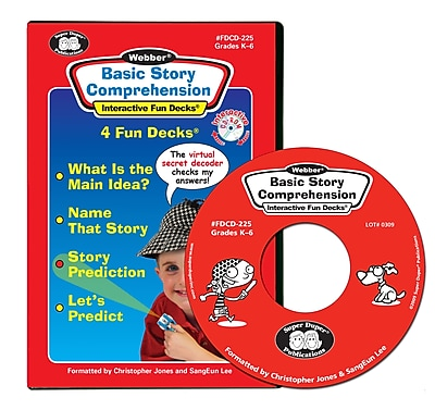 Super Duper Basic Story Comprehension Interactive Fun Decks CD ROM