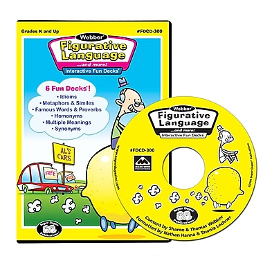 Super Duper® Webber® Figurative Language Interactive Fun Decks® CD-ROM