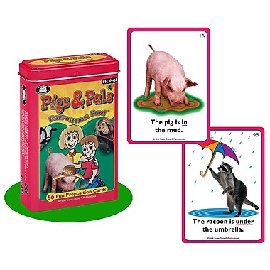 Super Duper® Pigs & Pals Preposition Fun Deck® Cards
