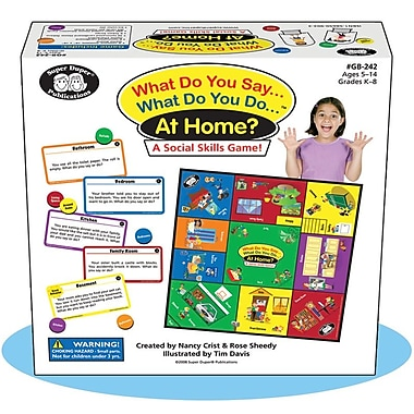 Super Duper® What Do You Say..What Do You Do..® At Home? Social Skills Game Board