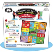 Super Duper® What Do You Say...What Do You Do...® In the Community? Social Skills Game Board