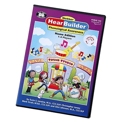 Super Duper Webber HearBuilder Phonological Awareness HOME CD