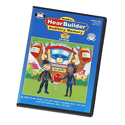 Super Duper Webber HearBuilder Auditory Memory Software Program HOME CD