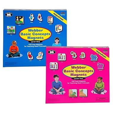 Super Duper® Webber® Basic Concepts MagneFoam™ Magnets Levels 1 and 2 Combo Game
