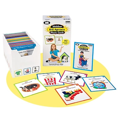 Super Duper® Webber® BIG Apraxia Photo Deck Cards