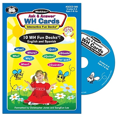Super Duper Webber Ask Answer WH Questions Interactive Fun Decks CD ROM