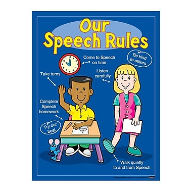Super Duper® Our Speech Rules Poster