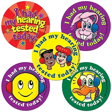 Super Duper® Hearing Tested Assortment Stickers, 100/Roll