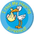 Super Duper® Infant Hearing Screening Stickers, 100/Roll