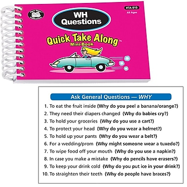 Super Duper® WH Questions Quick Take Along Mini Book, All Ages
