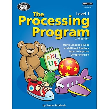 Super Duper® The Processing Program Level 1 Book, Grades PreK-5