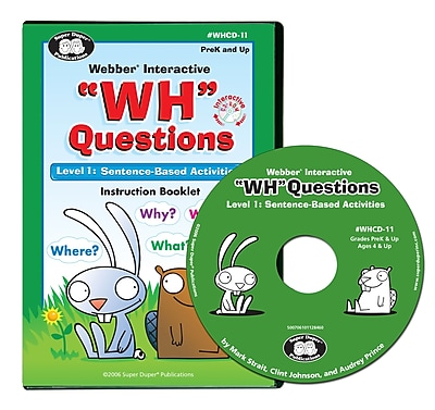 Super Duper Webber Interactive WH Questions CD ROM Level 1
