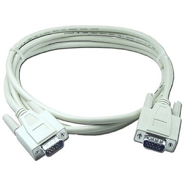 QVS CC388-06 6' VGA Cable, White