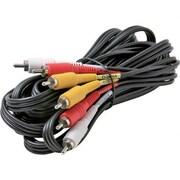 STEREN BL-216-306BK 6' Composite RCA Cable, Black