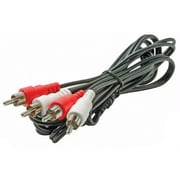 STEREN® 3' RCA Audio Cable, Black