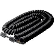 STEREN® 25' Coiled Handset Cord, Black