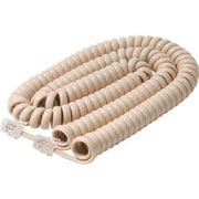 STEREN® 25' Coiled Handset Cord, Ivory
