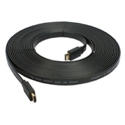 QVS® 32.81' Flat High Speed HDMI Male to HDMI Male Cable