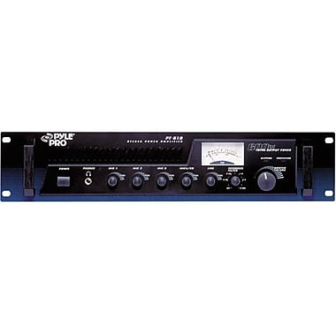 Pyle® Pro PT610 19in. Rackmount 100 W Power Amplifier/Mixer