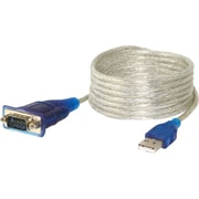 Sabrent 6' USB 2.0 T0 Serial DB-9 RS-232 Adapter Cable, Blue