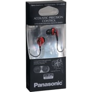 Panasonic RP-HJE450 ErgoFit Earbud Headphones, Red