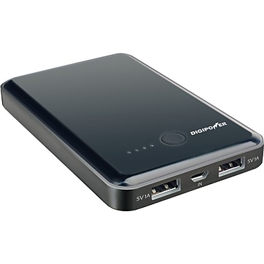 Mizco DigiPower JS-7000B 7000 mAh USB Battery Pack, Black