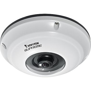 VIVOTEK Supreme FE8171V 3.1MP Surround View Fisheye Fixed Dome Network Camera, 1/2in. CMOS