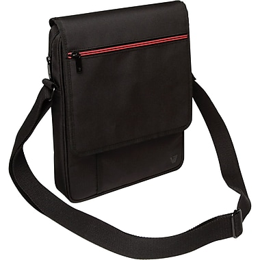 V7® Premium Messenger Bag For iPad/Tablets Upto 10.1in., Black