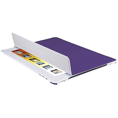V7® Slim Tri-Fold Folio and Stand For New iPad 2/3/4th Gen, Purple