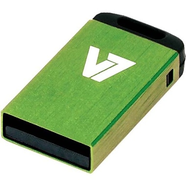 V7® VU24GCR-GRE-2N Nano USB 2.0 Flash Drive, 4GB