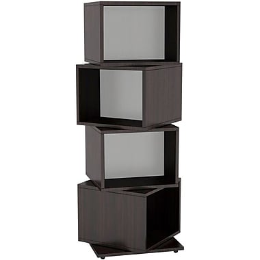 Atlantic® 11 1/2in. 4 Rotating Cube 216 Disc Media Tower, Espresso