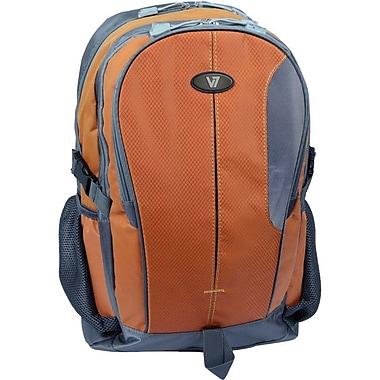 V7® Odyssey 15.6in. Notebook Backpack, Orange/Gray