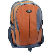 "V7® Odyssey 15.6"" Notebook Backpack, Orange/Gray"